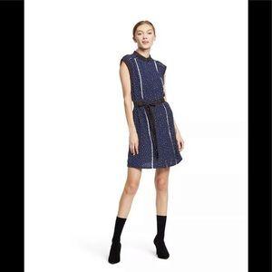 Jason Wu Polka Dot Mini Pleated Dress